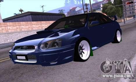 Subaru Impresa WRX light tuning pour GTA San Andreas sur la vue arrière gauche