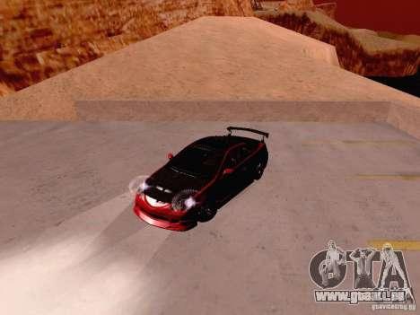 Acura RSX Drift für GTA San Andreas Rückansicht