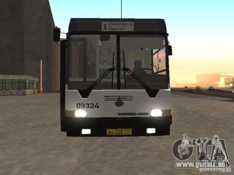 Autobus 6222 pour GTA San Andreas sur la vue arrière gauche