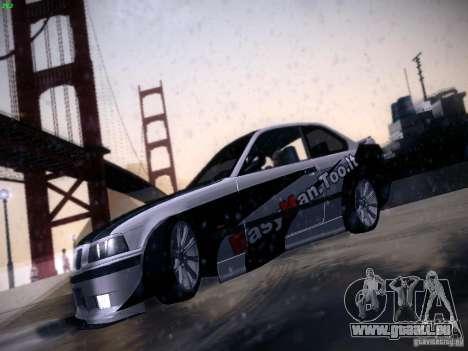 BMW M3 E36 320i Tunable pour GTA San Andreas vue intérieure