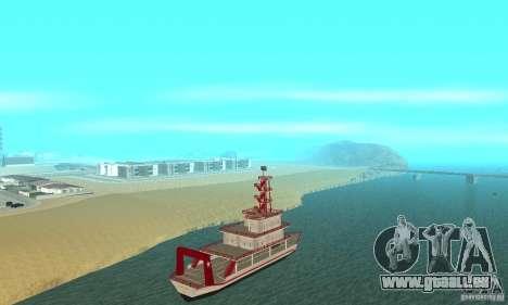 Vice City Ferryboat pour GTA San Andreas sur la vue arrière gauche