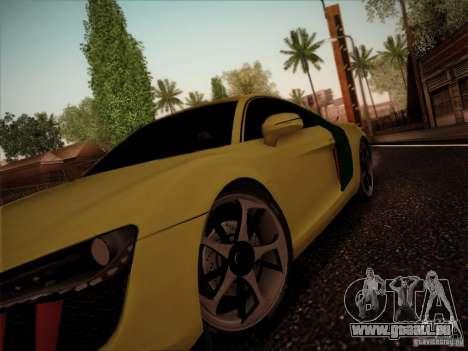 Audi R8 custom pour GTA San Andreas sur la vue arrière gauche