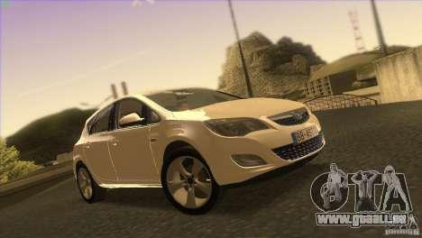 Opel Astra 2010 pour GTA San Andreas vue de dessous