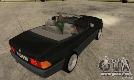 Mercedes SL-class 1995 pour GTA San Andreas vue de droite