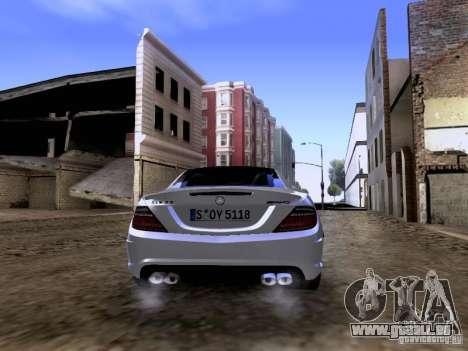 Mercedes-Benz SLK55 AMG 2012 pour GTA San Andreas vue de côté