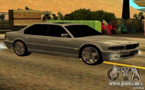 BMW 750iL E38 pour GTA San Andreas vue de dessous