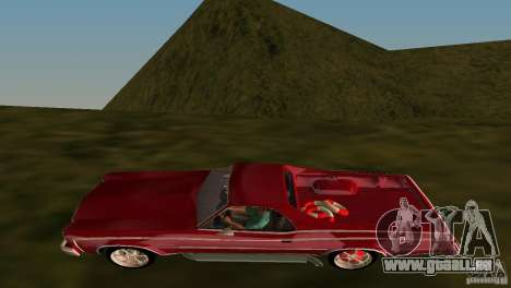 Chevrolet El Camino Idaho für GTA Vice City Innenansicht