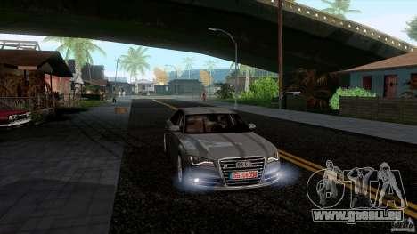 Audi S8 2012 pour GTA San Andreas laissé vue