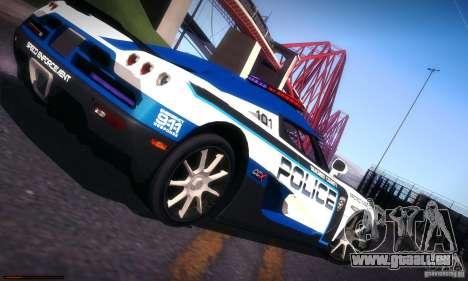 Koenigsegg CCX Police pour GTA San Andreas vue de dessus