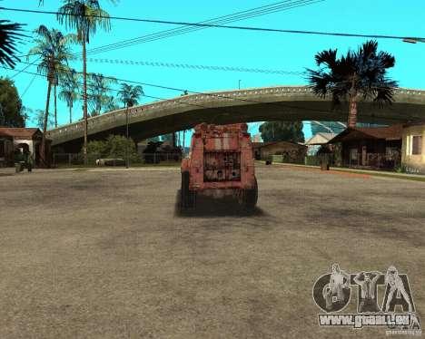 ZIL 131 für GTA San Andreas zurück linke Ansicht