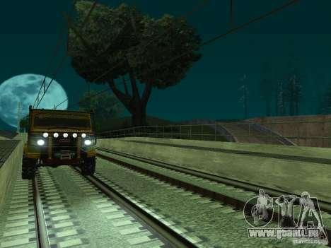 Haute vitesse de la ligne de chemin de fer pour GTA San Andreas huitième écran