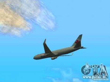 Boeing 767-300 Air Canada für GTA San Andreas zurück linke Ansicht