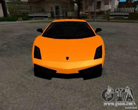 Lamborghini Gallardo LP570 Superleggera pour GTA San Andreas vue arrière