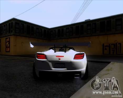 Saturn Sky Roadster pour GTA San Andreas vue de droite