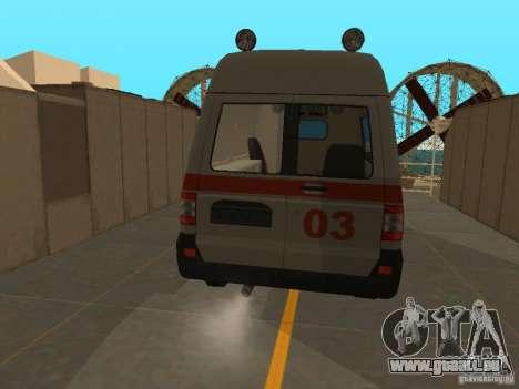 UAZ Simba SC ambulance pour GTA San Andreas sur la vue arrière gauche