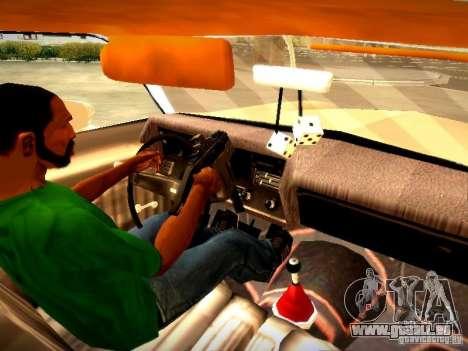 Chevrolet El Camino 1976 pour GTA San Andreas vue intérieure