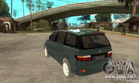 Toyota Estima pour GTA San Andreas sur la vue arrière gauche