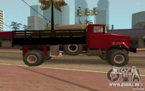 KrAZ-5131 für GTA San Andreas linke Ansicht