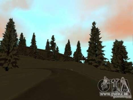Sentier d'hiver pour GTA San Andreas sixième écran