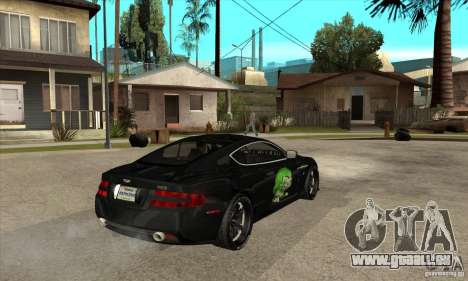 Aston Martin DB9 NFS PS Tuning pour GTA San Andreas vue de droite