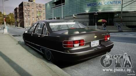 Chevrolet Caprice FBI v.1.0 [ELS] pour GTA 4 est un côté