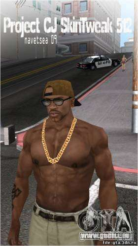 Navetsea CJ Skin Tweak 512 r2 pour GTA San Andreas quatrième écran