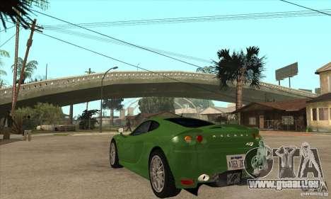 Ascari KZ1 für GTA San Andreas zurück linke Ansicht