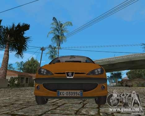 Peugeot 306 pour GTA San Andreas vue intérieure