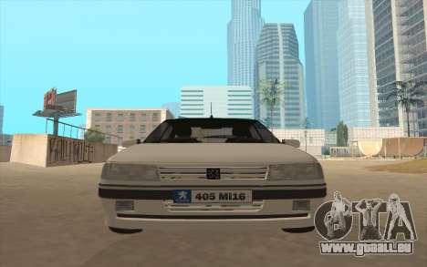 Peugeot 405 Mi16 pour GTA San Andreas sur la vue arrière gauche