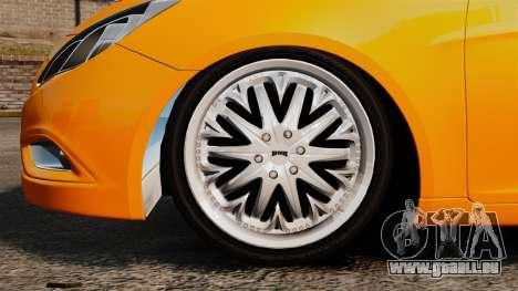 Hyundai Sonata 2011 v2.0 für GTA 4 Rückansicht