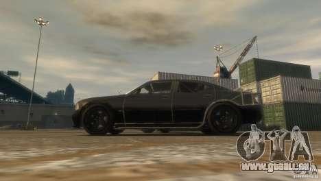 Dodge Charger Fast Five pour GTA 4 Vue arrière de la gauche