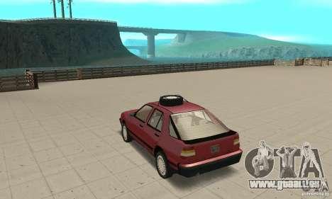 Saab 9000 pour GTA San Andreas sur la vue arrière gauche