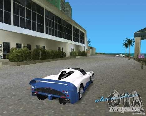 Maserati MC12 pour GTA Vice City sur la vue arrière gauche