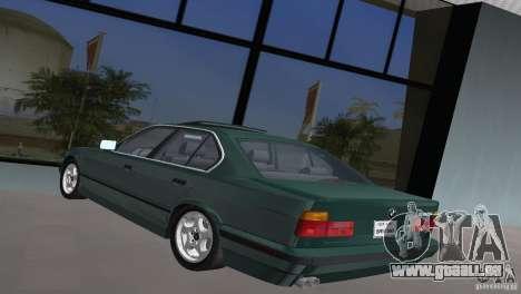 BMW 540i e34 1992 pour une vue GTA Vice City de la gauche