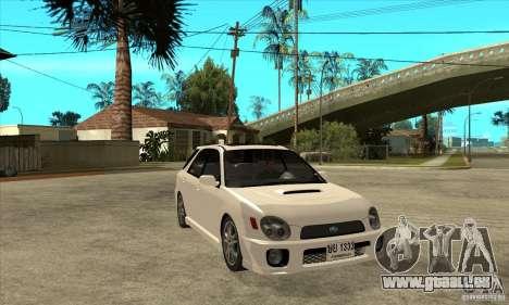 Subaru Impreza WRX Wagon 2002 für GTA San Andreas Rückansicht