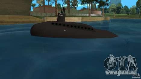 Vice City Submarine without face für GTA Vice City linke Ansicht
