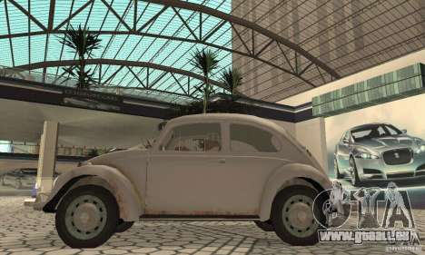 Volkswagen Beetle 1963 für GTA San Andreas zurück linke Ansicht