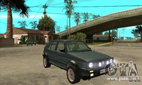Volkswagen Golf Country MkII Syncro 4x4 1991 pour GTA San Andreas vue arrière