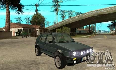Volkswagen Golf Country MkII Syncro 4x4 1991 für GTA San Andreas Rückansicht