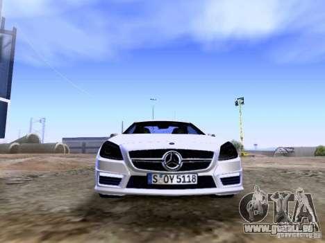 Mercedes-Benz SLK55 AMG 2012 für GTA San Andreas obere Ansicht