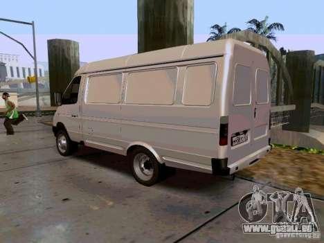 Gazelle 2705 1994 pour GTA San Andreas laissé vue