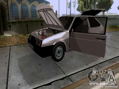 VAZ 2108 Bach für GTA San Andreas Innenansicht