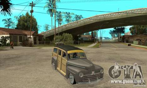 Ford Woody Custom 1946 pour GTA San Andreas vue arrière
