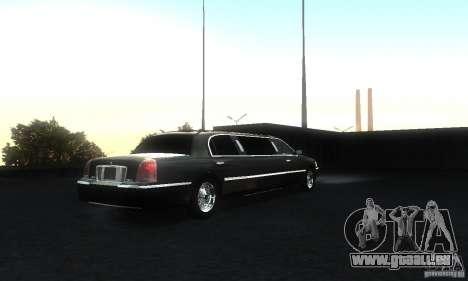 Lincoln Towncar limo 2003 für GTA San Andreas rechten Ansicht