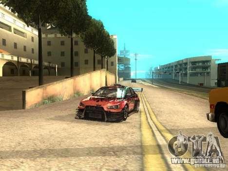 Mitsubishi Lancer Evo X Trailblazer Dirt2 für GTA San Andreas Rückansicht