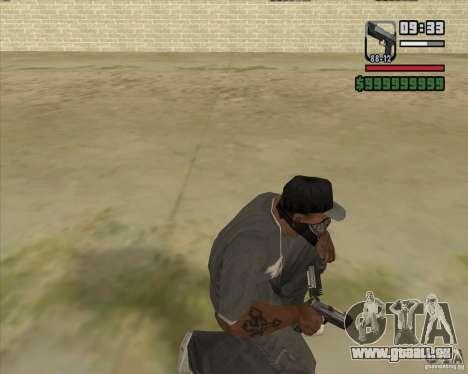 New Pistol pour GTA San Andreas troisième écran