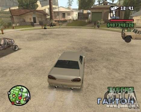 Radar zoom pour GTA San Andreas deuxième écran