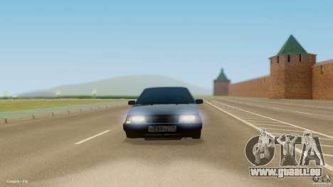 VAZ 21099 für GTA San Andreas Rückansicht