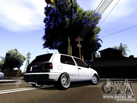 Volkswagen Golf MK3 für GTA San Andreas zurück linke Ansicht