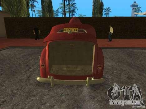 Ford 1940 v8 für GTA San Andreas Rückansicht
